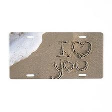 i love you 2011 Aluminum License Plate