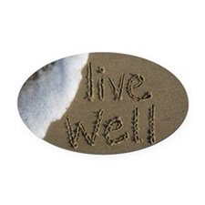 live well Oval Car Magnet