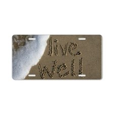 live well Aluminum License Plate