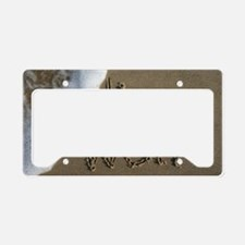 live well License Plate Holder