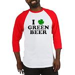 I Shamrock Green Beer Baseball Jersey
