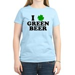 I Shamrock Green Beer Women's Light T-Shirt