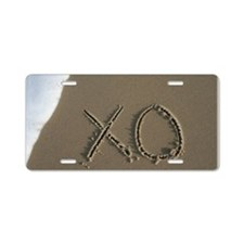 xo Aluminum License Plate