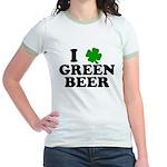 I Shamrock Green Beer Jr. Ringer T-Shirt