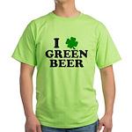 I Shamrock Green Beer Green T-Shirt