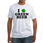 I Shamrock Green Beer Fitted T-Shirt