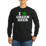 I Shamrock Green Beer Long Sleeve Dark T-Shirt