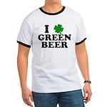 I Shamrock Green Beer Ringer T