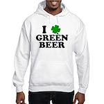 I Shamrock Green Beer Hooded Sweatshirt