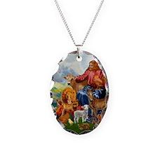 JesusAnimaltee2 Necklace Oval Charm