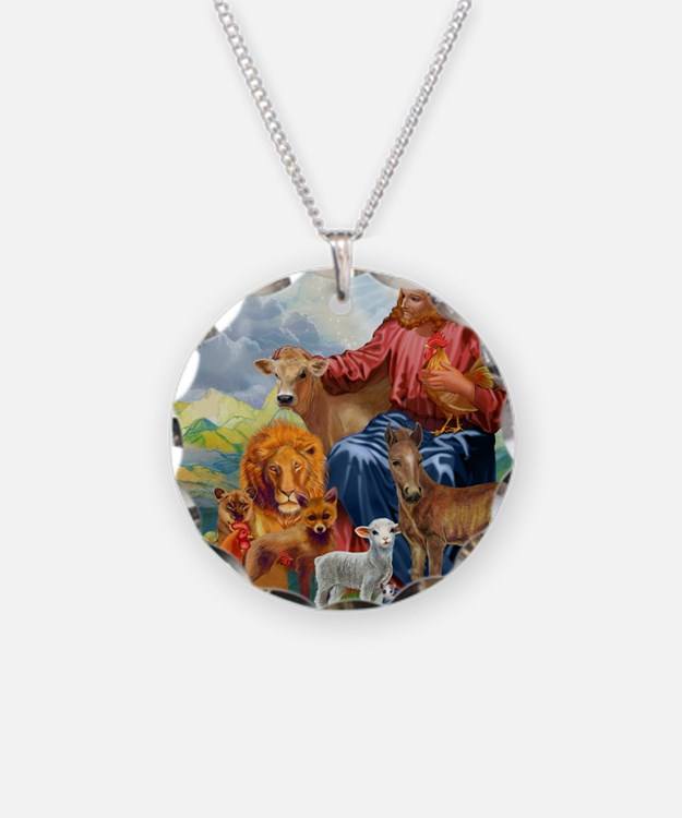FARMposter3 Necklace Circle Charm