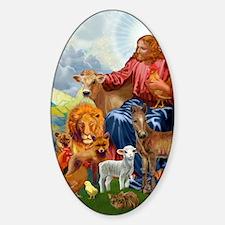 JesusAnimaltee2 Sticker (Oval)