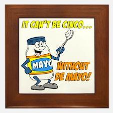 Funny Cinco De Mayo Shirt Framed Tile