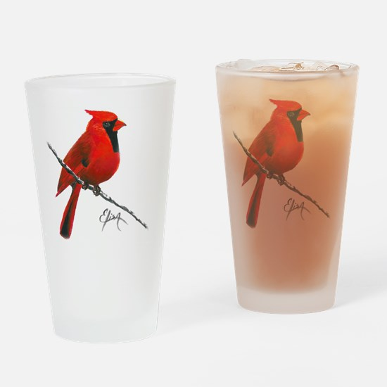 cardinal (2) Drinking Glass