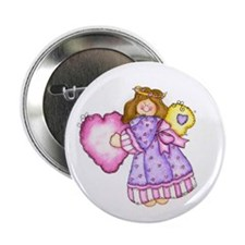 Angel With Heart Button