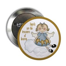 Angels Are The Treasures Of Heaven Button