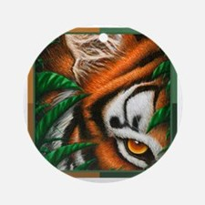 Tiger EyeEar 4 colour (T-shirt) Round Ornament