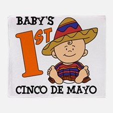 Babys First Cinco De Mayo Throw Blanket