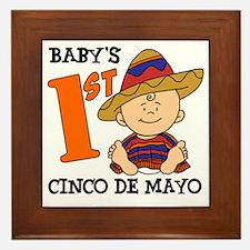 Babys First Cinco De Mayo Framed Tile