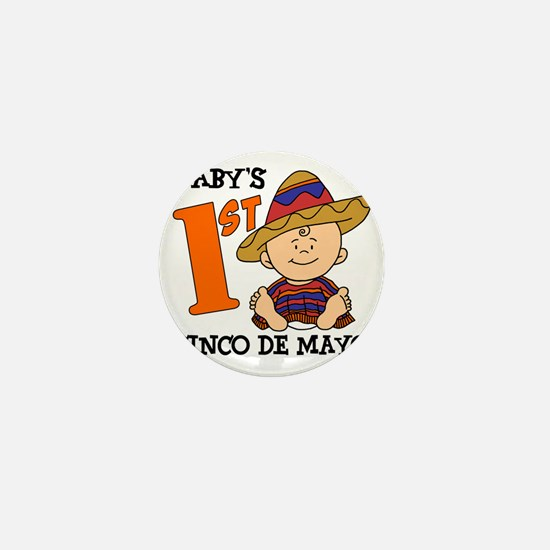 Babys First Cinco De Mayo Mini Button