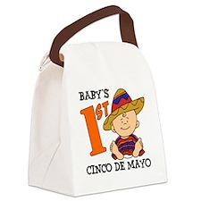Babys First Cinco De Mayo Canvas Lunch Bag