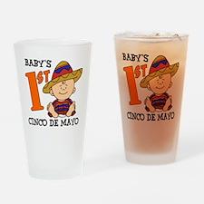 Babys First Cinco De Mayo Drinking Glass