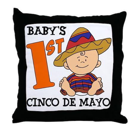 Babys First Cinco De Mayo Throw Pillow