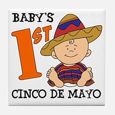 Babys First Cinco De Mayo Tile Coaster