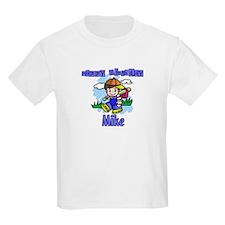 Happy Birthday Baseball Mike Kids T-Shirt