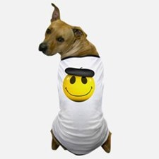 3d-smiley-beret Dog T-Shirt