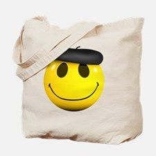 3d-smiley-beret Tote Bag