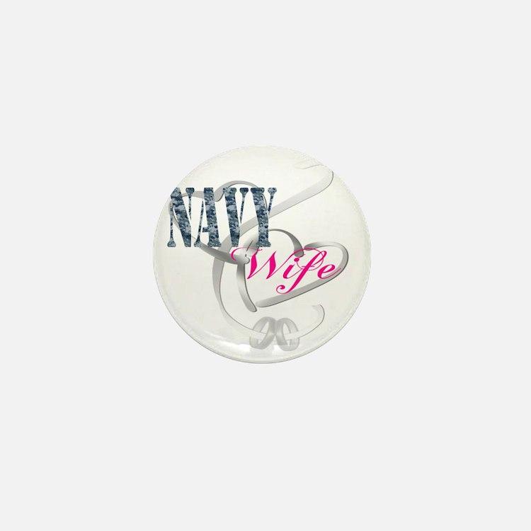 navywifehearts Mini Button