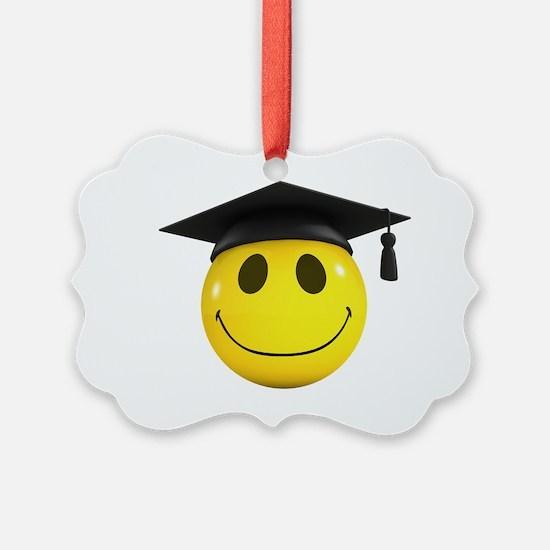 3d-smiley-graduate Ornament