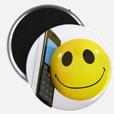 3d-smiley-mobile Magnet