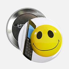 """3d-smiley-mobile 2.25"""" Button"""