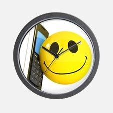 3d-smiley-mobile Wall Clock