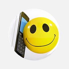 """3d-smiley-mobile 3.5"""" Button"""