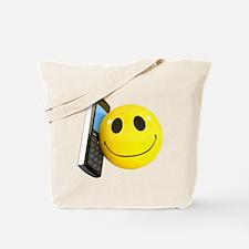 3d-smiley-mobile Tote Bag