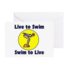 SwimChick LTS Greeting Cards (Pk of 10)