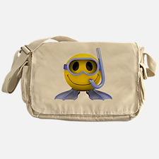 3d-smiley-scuba Messenger Bag