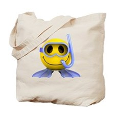 3d-smiley-scuba Tote Bag