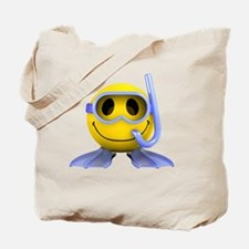3d-smiley-scuba Tote Bag