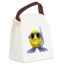 3d-smiley-scuba Canvas Lunch Bag