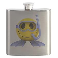 3d-smiley-scuba Flask