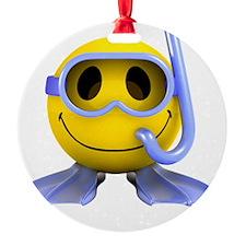3d-smiley-scuba Ornament