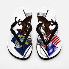 Emblem-Shaded Flip Flops