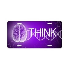 Think Aluminum License Plate