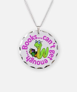 Reading Month Bookworm Necklace