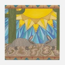 A is for Armadillo Tile Coaster