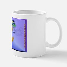 YardsignGold Koi and Deep Blue Lilies Mug